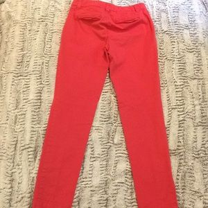 GAP Pants - GAP Women's Red Straight-Leg Khakis
